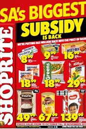 Shoprite Subsidy Promotion