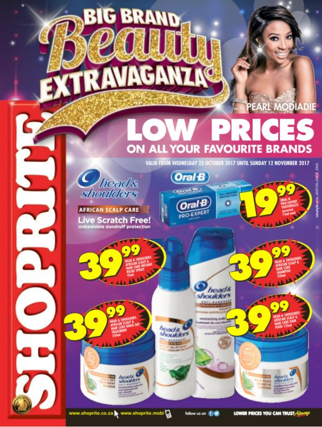 Shoprite Beauty Low Prices Specials 25 Oct 2017 12 Nov
