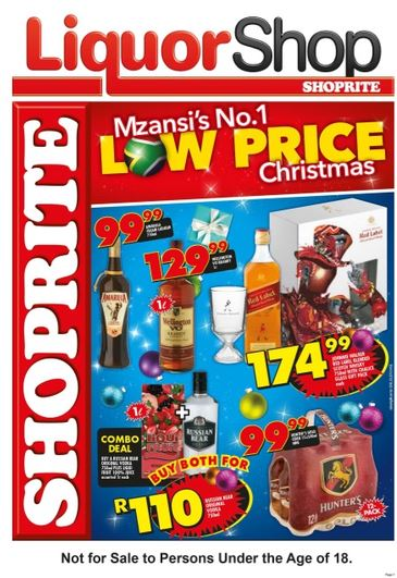Shoprite Liquor Specials 20 Nov 2017 03 Dec 2017 Black