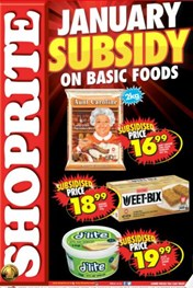 Find Specials || KZN Shoprite Subsidy on Foods Specials