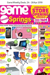 Find Specials || Game Springs Store Opening Deals
