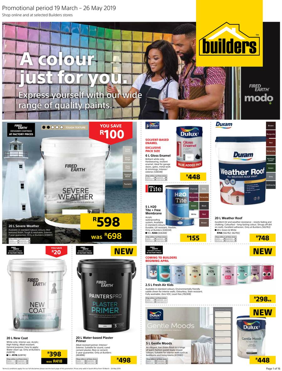 Builders Paint Deals 19 Mar 2019 26 May 2019 Christmas