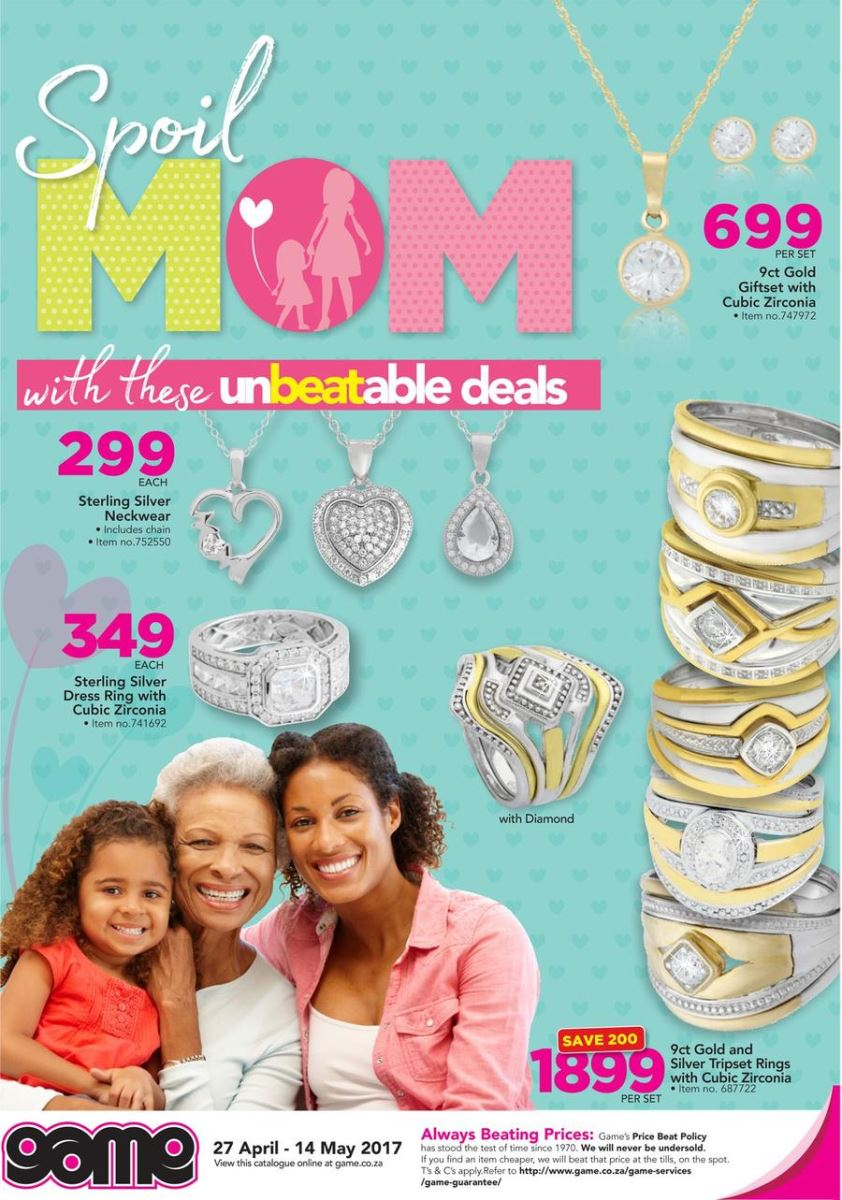 Game Mother S Day Specials 27 Apr 2017 14 May 2017 Find Specials