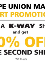 Find Specials || Cape Union Mart K-Way Shirt Promotion