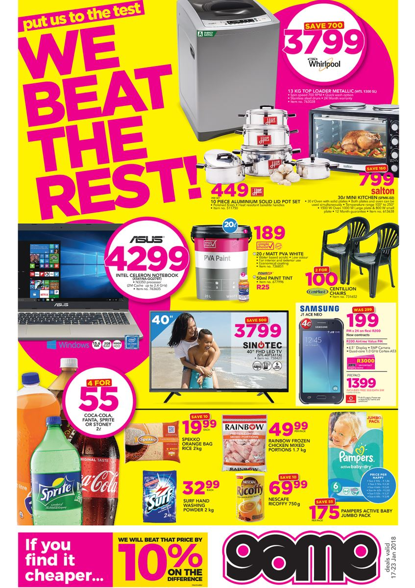 Game Specials Western Cape