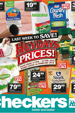 Find Specials || Northern Cape, Free State Heydays Specials form Checkers