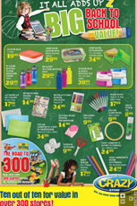 Find Specials || Crazy Store Back to School Specials