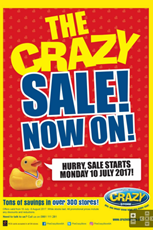 Find Specials || The Crazy Store Sale now on