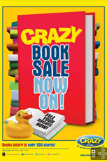 Find Specials || The Crazy Store Book Sale