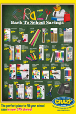 Find Specials || The Crazy Store Back to School Deals