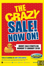 Find Specials || The Crazy Store Sale