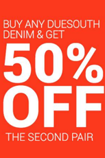 Find Specials || Due South 50% Off on Denims