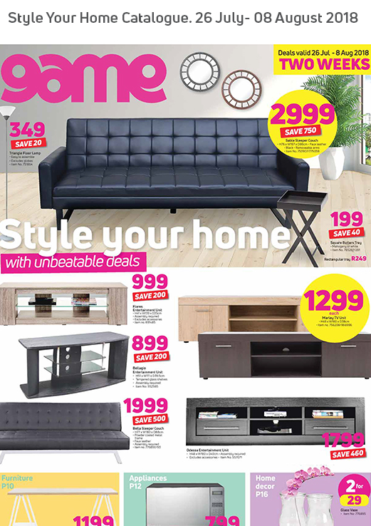 Game Home Catalogue 26 Jul 2018 08 Aug 2018 Find Specials