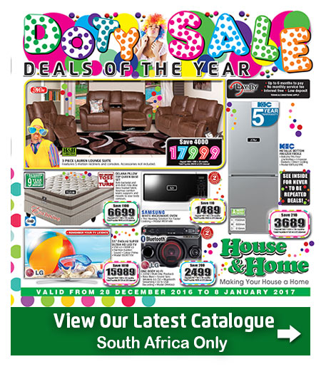 House And Home New Years Sale 28 Dec 2016 08 Jan 2017 Find Specials