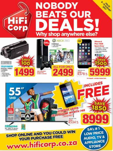 Hifi Corp Weekly Specials 09 Aug 2017 13 Aug 2017 Back