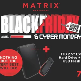 Matrix Warehouse Cyber Monday 2018 Deals