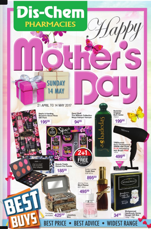 Mothers Day Specials at Dischem 21 Apr 2017 - 14 May 2017 ...