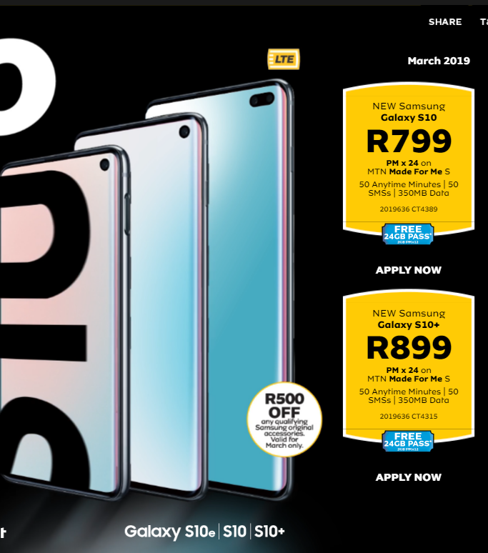 mtn cellphone contract deals 2019