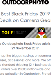 Find Specials || Outdoorphoto Black Friday Sale 2019