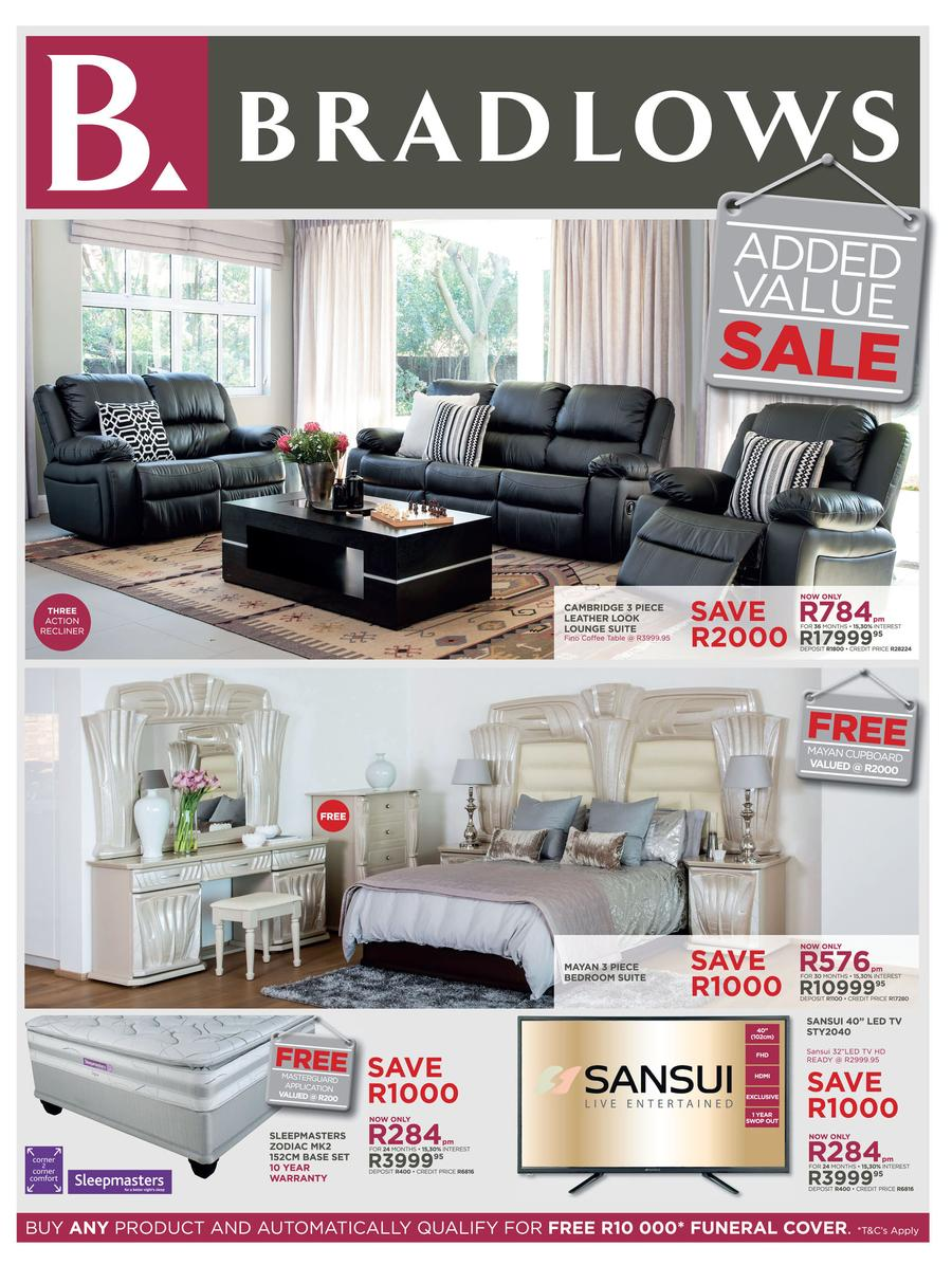 Bradlows specials 10 oct 2016 20 oct 2016 find specials for X furniture catalogue