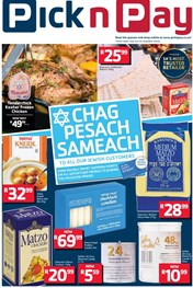 Eastern Cape Chag Pesach Sameach Pick n Pay Promotions