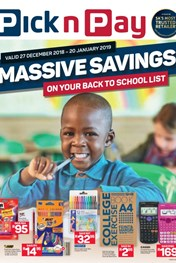 Find Specials || Eastern Cape Pick n Pay Back to School Specials