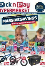 Find Specials || Pick n Pay Hypermarket Back To School Deals