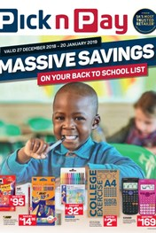 Find Specials || Western Cape Pick n Pay Back to School