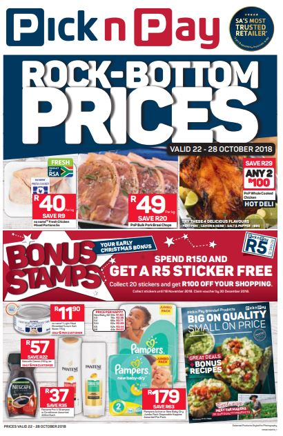 Western Cape Pnp Rock Bottom Prices 22 Oct 2018 28 Oct 2018 Black Friday Specials