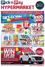 Find Specials || Western Cape Pick n Pay Hypermarket R100 Specials