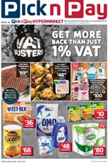 Find Specials || Western Cape Pick n Pay VAT Busters Promotion