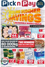 Western Cape Pick n Pay Sizzling Summer Specials