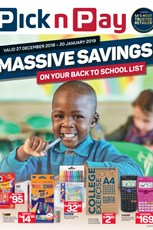 Find Specials || KZN Pick n Pay Back to School Specials