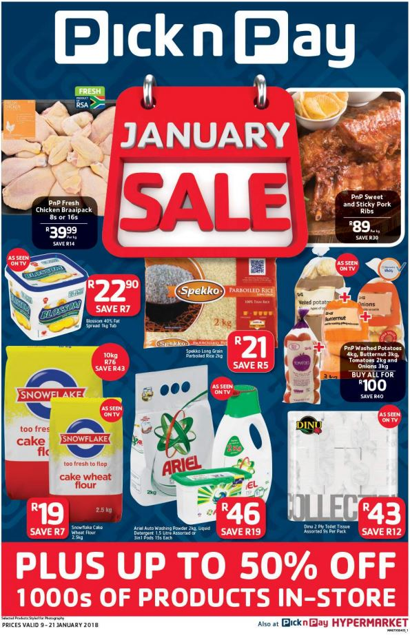 Pick n Pay January Sale Deals 09 Jan 2018 - 21 Jan 2018 | Find Specials