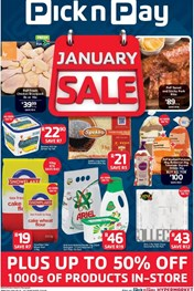 Pick n Pay January Sale Deals