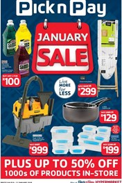 Find Specials || January Sale PnP Hypermarkets