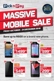 Find Specials || Pick n Pay Massive Mobile Sale