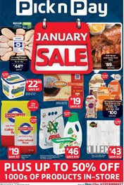 Find Specials || Pick n Pay January Sale Promotion