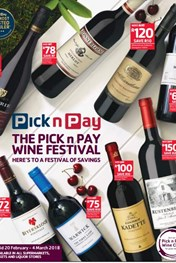 Find Specials || Pick n Pay Wine Festival
