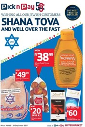 Inland Pick n Pay Shana Tova And Well Over The Fast
