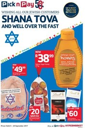 Western Cape Pick n Pay Shana Tova And Well Over The Fast