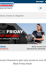 Find Specials || Sportsmans Warehouse Black Friday Deals
