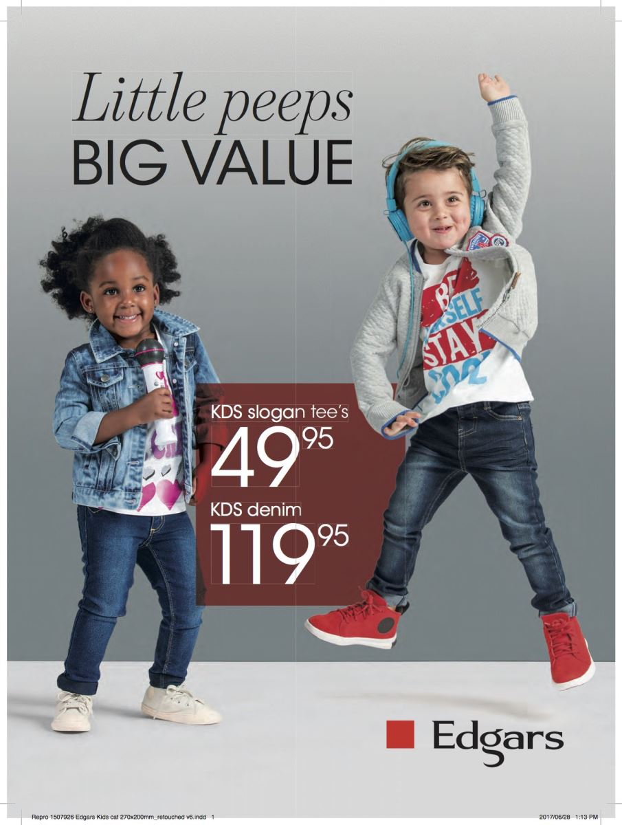 Edgars Kids Clothing Specials 24 Jul 2017 02 Aug 2017