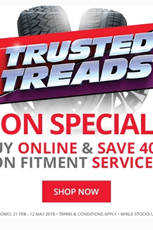 Find Specials || Tiger Wheel and Tyre Trusted Treads
