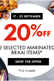 Woolworths Braai Day Specials
