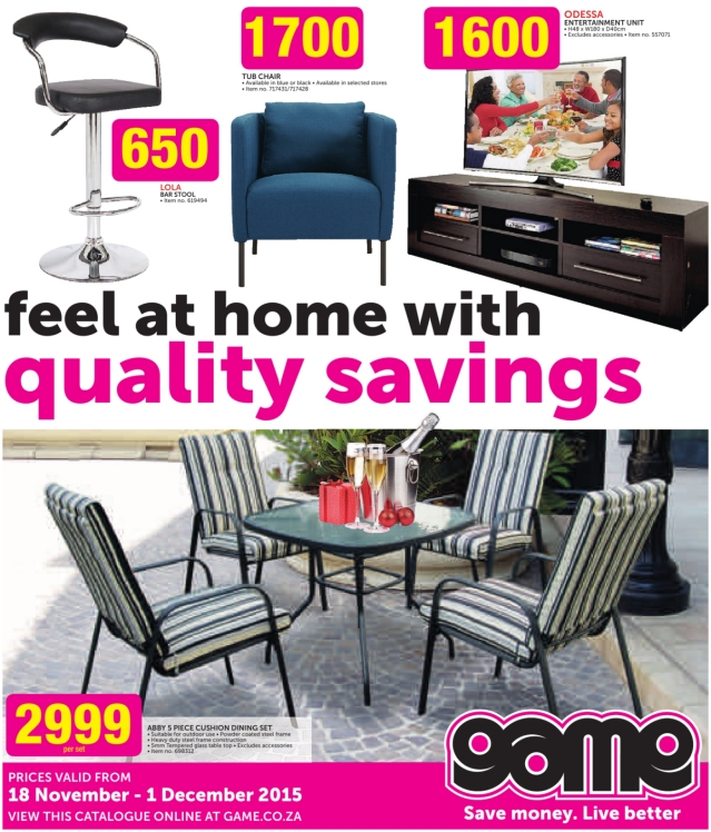 Game Home Decor Specials Catalogue 18 Nov 2015 01 Dec 2015 Find Specials
