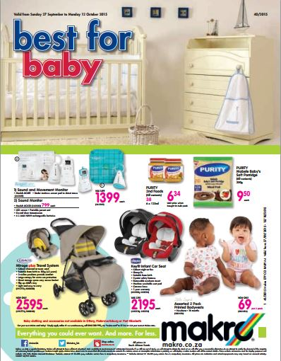 Baby Product Specials From Makro 27 Sep 2015 12 Oct 2015 Find Specials