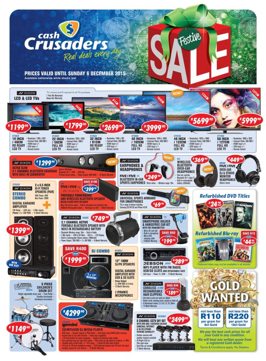 Cash Crusaders Specials Catalogue 16 Nov 2015 06 Dec