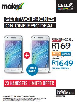 Cell C Promotions At Makro 07 Aug 2015 06 Oct 2015