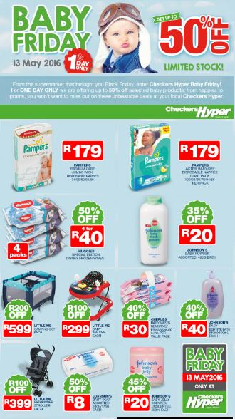 Baby Friday Deals At Checkers 12 May 2016 13 May 2016 Find Specials